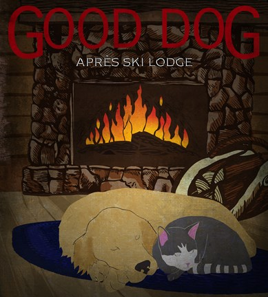 Framed Good Dog Apres Ski Lodge II Print