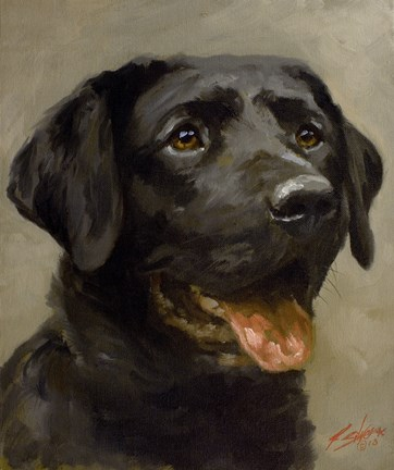 Framed Black Lab 8 Print