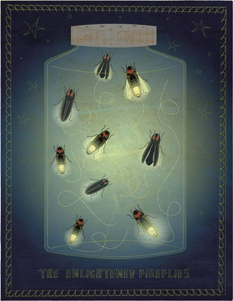 Framed Lightning Bugs Print