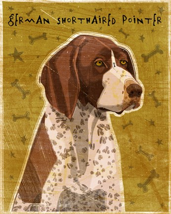 Framed German Shorthaired Pointer Print