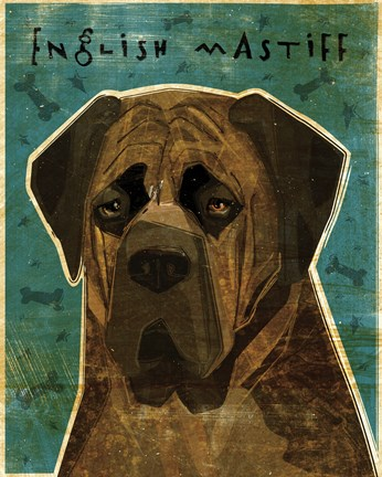 Framed English Mastiff - Brindle Print