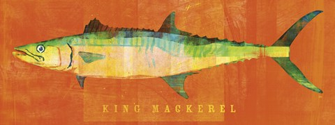 Framed King Mackerel Print