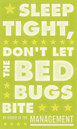 Framed Sleep Tight, Don't Let the Bedbugs Bite (green & white) Print