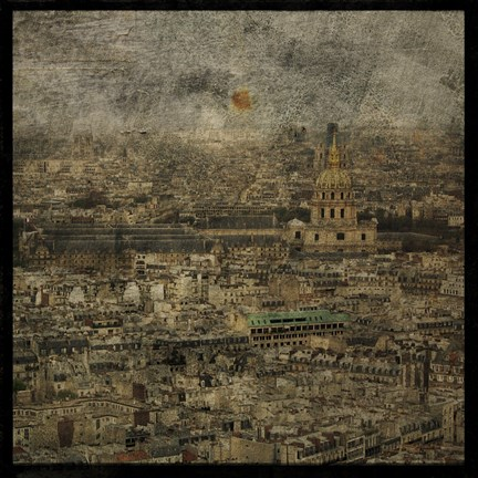 Framed Paris Skyline III Print