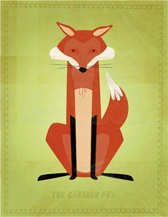 Framed Crooked Fox Print