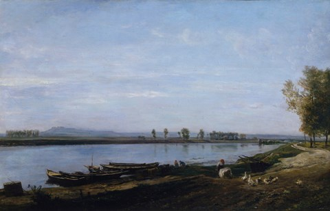 Framed Seine At Bezons, c. 1851 Print