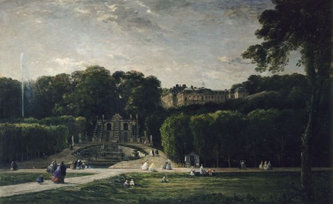 Framed Park At Saint-Cloud, 1865 Print