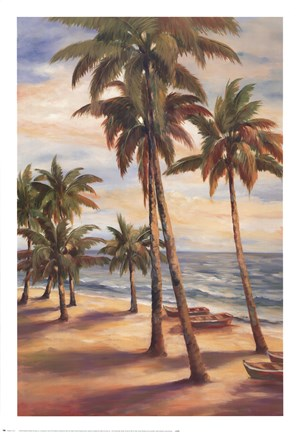 Framed Tropical Paradise II Print