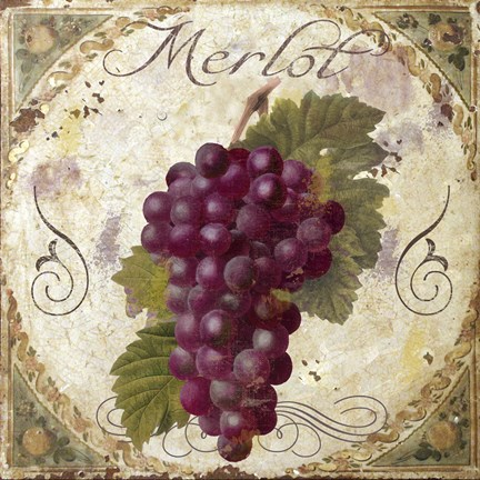 Framed Tuscany Table Merlot Print