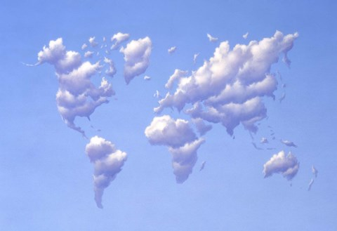 Framed Clouds Forming the Continents Print