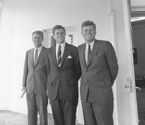 Framed President John Kennedy and Brothers Print