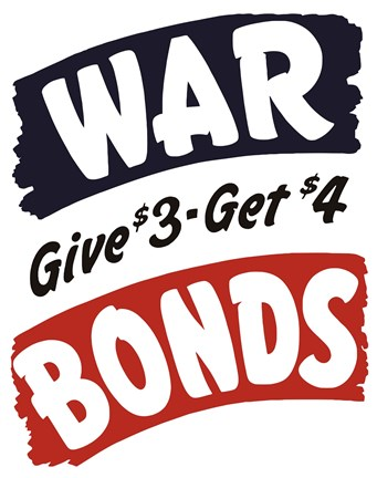 Framed World War II Bonds Print