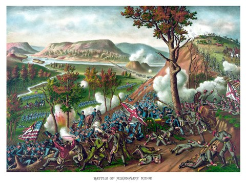 Framed Battle of Missionary Ridge Print