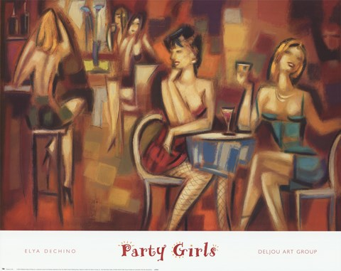 Framed Party Girls Print