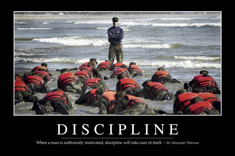 Framed Discipline: Inspirational Quote and Motivational Poster Print