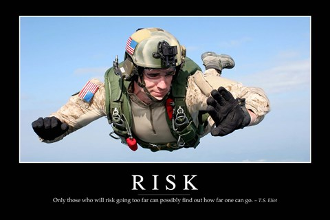 Framed Risk: Inspirational Quote and Motivational Poster Print