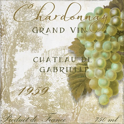 Framed Grand Vin Chardonnay Print