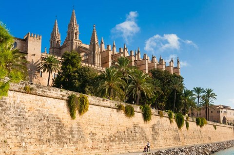Framed Cathedral of Santa Maria of Palma, Majorca, Balearic Islands, Spain Print