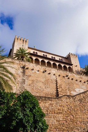Framed Royal Palace of La Almudaina, Palma, Majorca, Balearic Islands, Spain Print