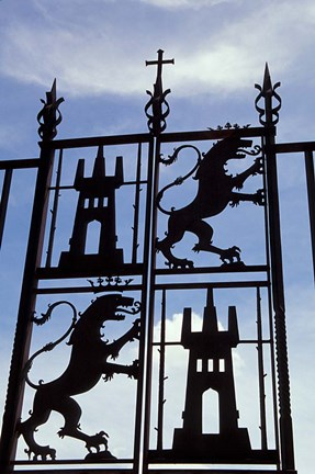 Framed Decorative Wrought-Iron Gate of Alcazar, Cordoba, Spain Print