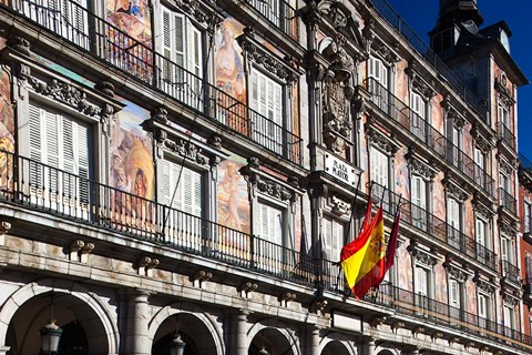 Framed Spain, Madrid, Plaza Mayor, Building Detail Print