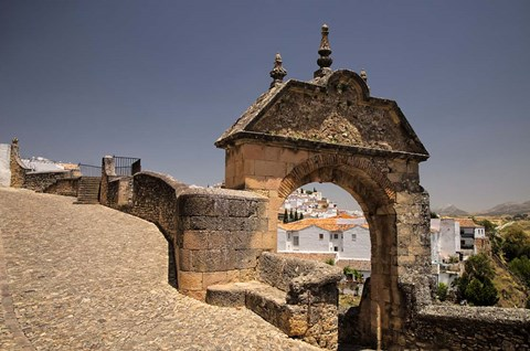 Framed Spain, Andalusia, Malaga Province, Ronda Stone Archway Print