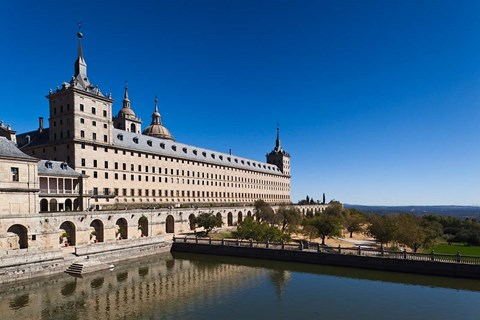 Framed El Escorial Royal Monastery and Palace, San Lorenzo de El Escorial, Spain Print