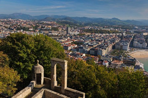 Framed City View, San Sebastian, Spain Print