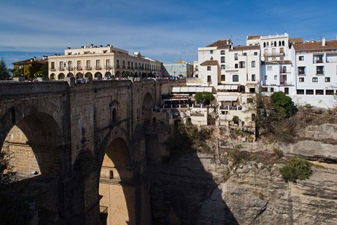 Framed Puente Nuevo Bridge, Ronda, Spain Print