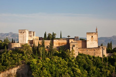 Framed Spain, Andalusia, Granada Province, Granada View of Alhambra Palace Print