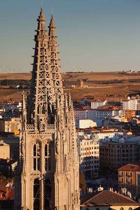 Framed Spain, Castilla y Leon, Burgos Cathedral, Sunset Print