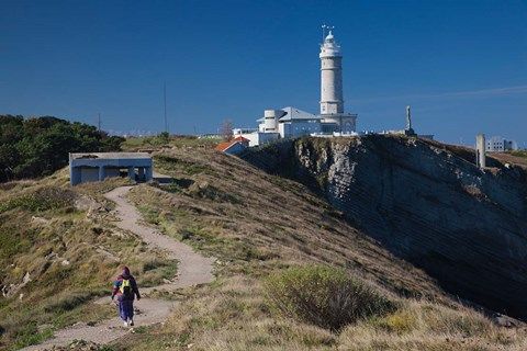 Framed Spain, Santander, Cabo Mayor Lighthouse Print