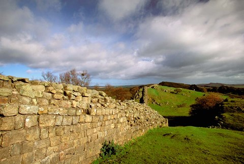 Framed 2nd Century Roman Wall, Hadrian's Wall, Northumberland, England Print