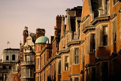 Framed Buildings of Upper Grosvenor Street, Mayfair, London, England Print