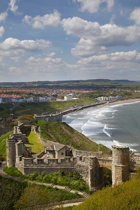 Framed Scarborough Castle, Scarborough, North Yorkshire, England Print