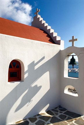 Framed Church, Chora, Mykonos, Greece Print