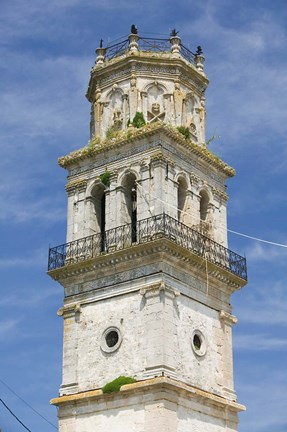Framed Bell Tower of St Nikolaos Church, Kiliomeno, Zakynthos, Ionian Islands, Greece Print