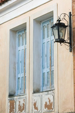 Framed Building Detail, Manolates, Samos, Aegean Islands, Greece Print