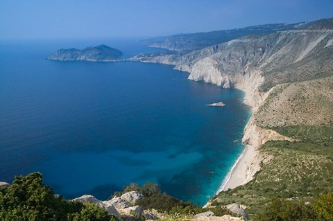 Framed Coastline View, Assos, Kefalonia, Ionian Islands, Greece Print