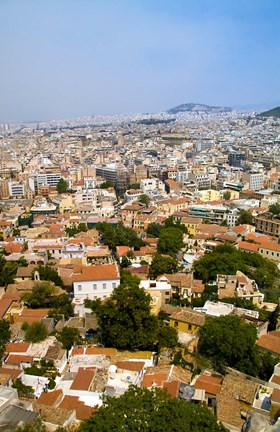 Framed Crowded City of Athens, Greece Print