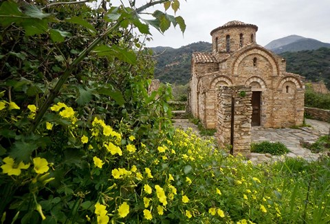 Framed Greece, Crete, Byzantine Church of the Panayia Print