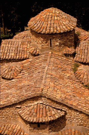 Framed Tile Roof, Karitena, Peloponnese, Central Arcadia, Greece Print