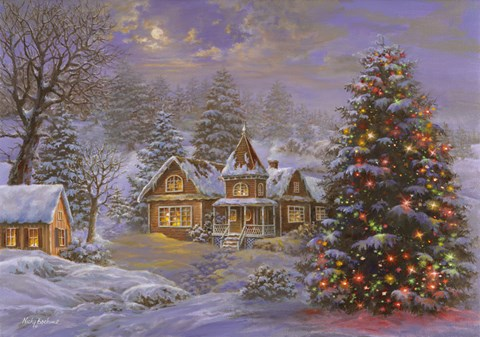 Happy Holidays Fine Art Print By Nicky Boehme At