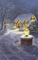 Snowy Winter Christmas Road Home  Fine Art Print