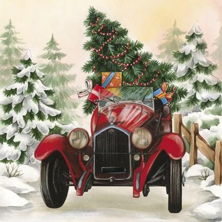 Christmas Tree Classic Car Ride I Fine Art Print By Dbk