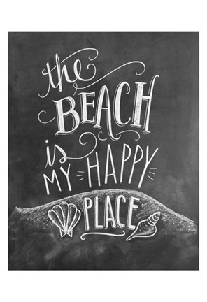 Framed Beach Is My Happy Place Print