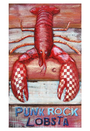 Framed Punk Rock Lobsta Print