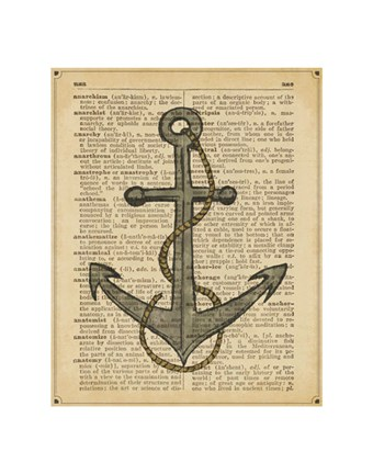 Framed Nautical Series - Anchor Print