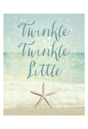 Framed Twinkle Twinkle Little Star(fish) Print