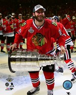 Brandon Saad with the Stanley Cup Game 6 of the 2015 Stanley Cup Finals  Fine Art Print